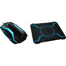 Razer Tron Blue LED Gaming Mouse With Bioluminescent Tron Mousepad