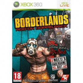 Used Xbox 360 Borderlands Double Game Add-On Pack