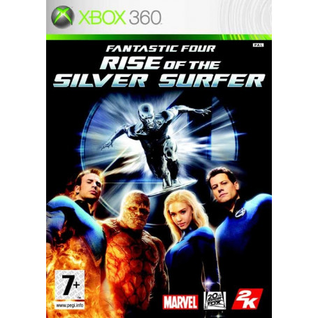 Used Xbox 360 Fantastic Four Rise of the Silver Surfer