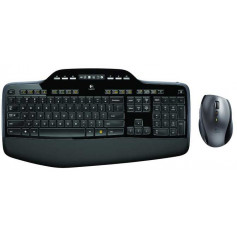 Logitech MK710 Black LCD Dashboard Palm Rest Wireless Desktop