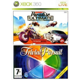Used Xbox 360 Burnout Paradise and Trivial Pursuit