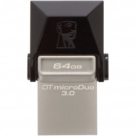 Kingston dtDUo3/64GB datatraveler microDuo BlacK 64Gb Flash Drive
