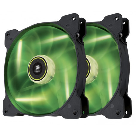 Corsair Co-9050037-WW SP140 Green Led 140mm Fan Twin Pack