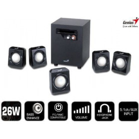 Genius® SW5.1 1020 Desktop 5.1 Speakers