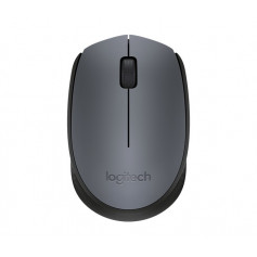 Logitech 910-004642 M170 Cordless Notebook Mouse, Black + Silver Highlight