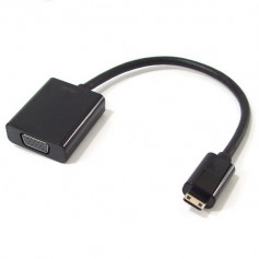 Mini-HDMi ( type-C / 3.2x11.2mm ) to VGAcable ( for vga card with Mini-HDMi ) - bulk pack