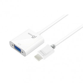 j5create HDMI to VGA adapter JDA213 to D-SUB(VGA) + 3.5mm Audio out - 195mm cable