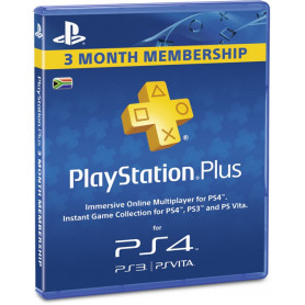 PlayStation Plus 3 Month Membership [ZA]
