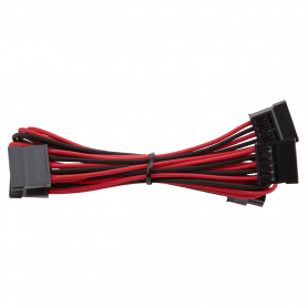 Premium Individually Sleeved SATA Cable Red & Black