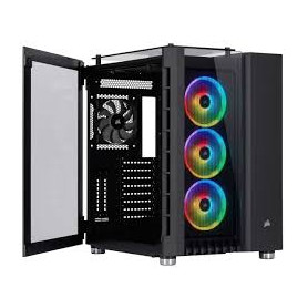 Corsair CC-9011168 Crystal Series 680X RGB Black Tempered Glass ATX Mid-Tower Smart Desktop Chassis
