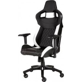 Corsair CF-9010012 T1 Race Black and White Gaming Chair - 2018 Edition