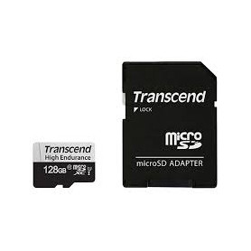 Transcend 350S 128GB High Endurance Micro SD UHS-I U1 CLASS10 with SD Adapter