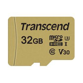 Transcend TS32GUSD500S 500S 32GB Micro SDXC/SDHC Class 10 V30 Memory Card With Adaptor
